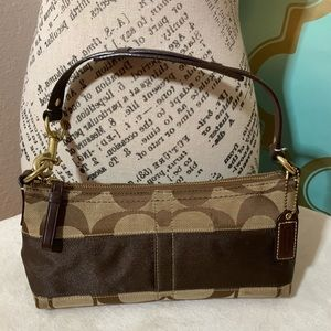 Couch Signature Stripe Khaki/Brown Handbag